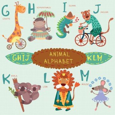 Very cute alphabet. G, h, i, j, k, l, m letters.