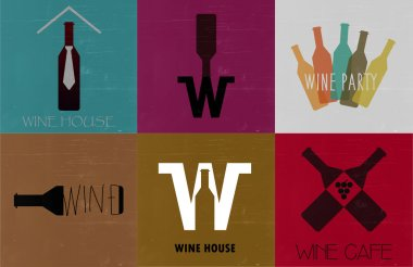 Wine buttons for promo material use, drink menu.