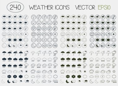 Flat weather icons.