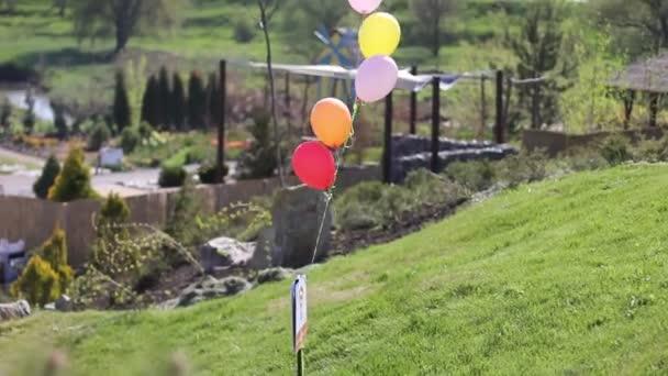 několik barevných balónků