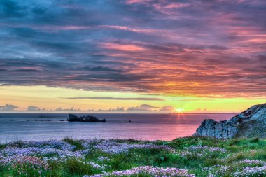 Sunset in Brittany, France