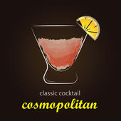 Fotografie Cosmopolitan koktejl v autentických skla