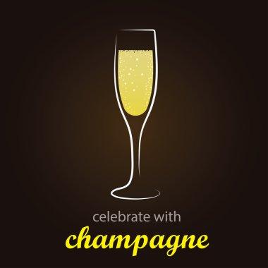 Champagne in flute glass