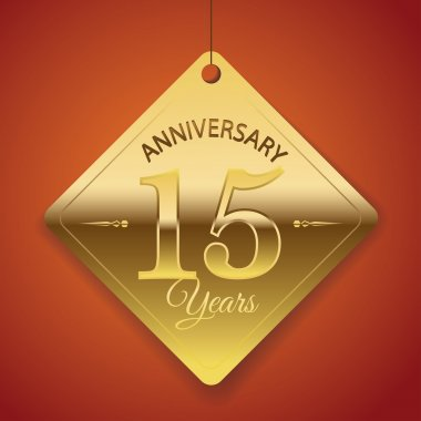 15 Years Anniversary poster , template, tag design Vector