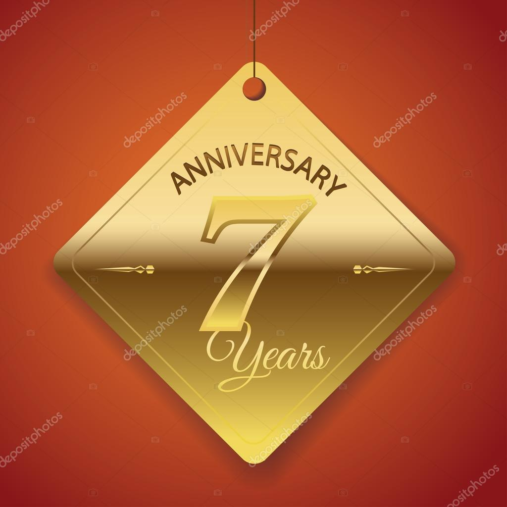 Molto 7 Years Anniversary poster , template, tag design Vector — Stock  AO35