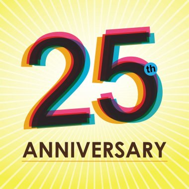 25 Years Anniversary poster , template, tag design Vector