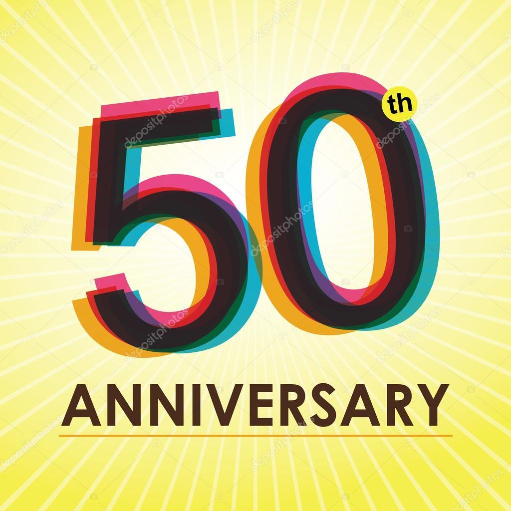 sjabloon 50 jaar 50 jaar verjaardag poster, sjabloon, tag ontwerp vector  sjabloon 50 jaar