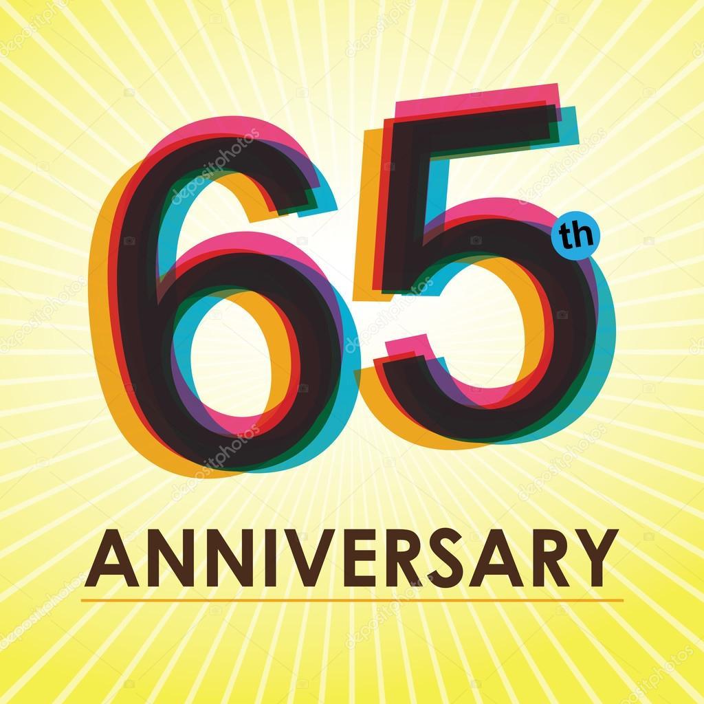 65 Anniversario Di Matrimonio.Locandina Anniversario Di 65 Anni Modello Tag Disegno