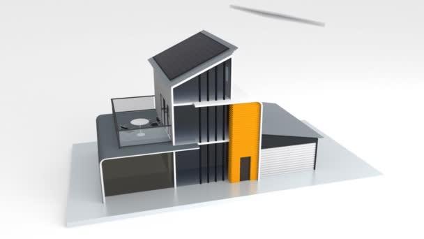 inteligentní dům s grafem klasifikace energetické