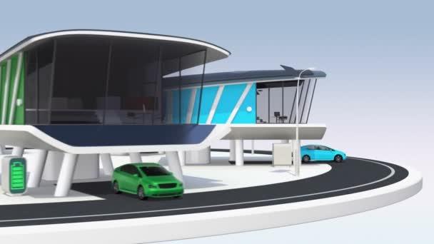 futuristické inteligentní domy se solárním panelem. energeticky úsporné spotřebiče