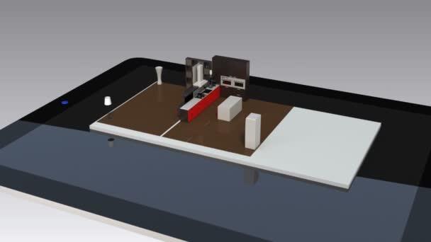 eko dům zobrazování na obrazovce tabletu, zobrazí se graf efektivní energie