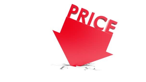 Price down on white background