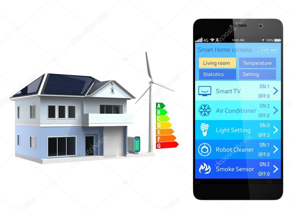 Smartphone Home Automation smartphone with home automation app — stock photo © chesky_w #47257427