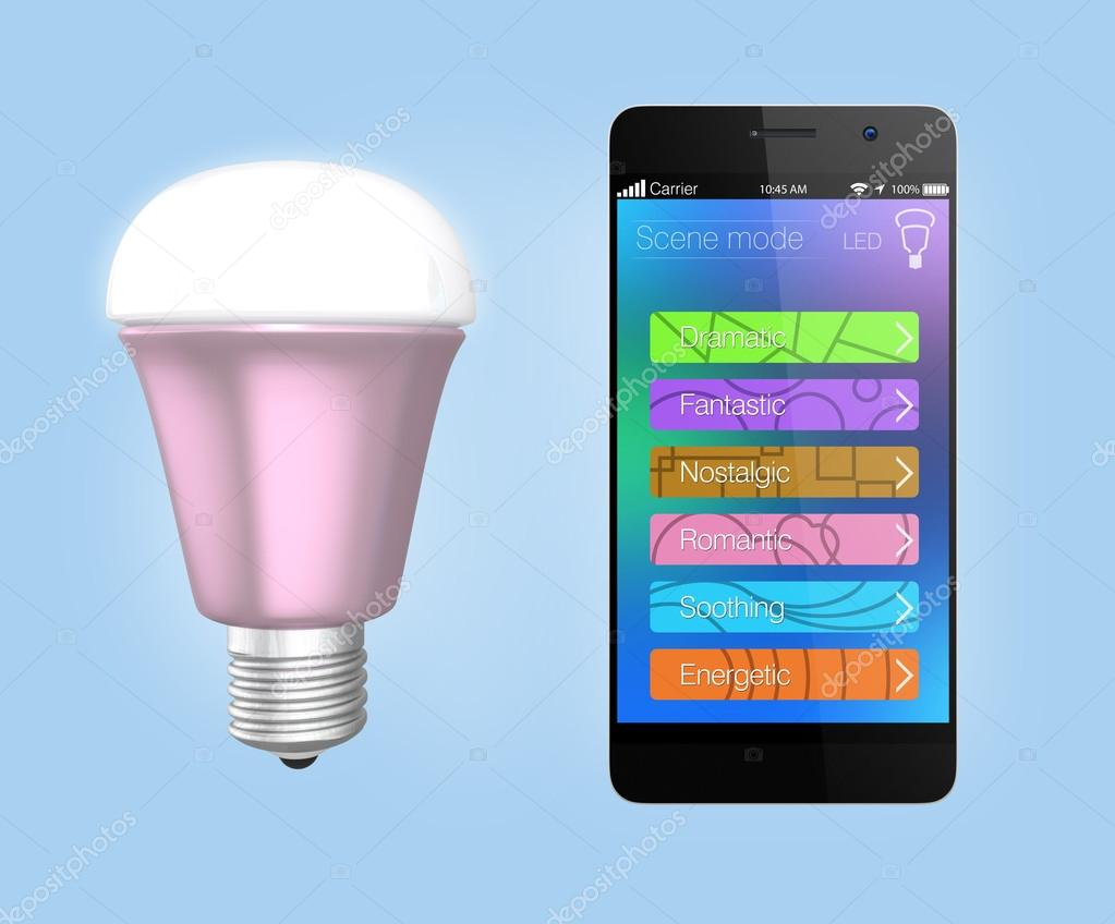 smartphone app control led verlichting — Stockfoto © chesky_w #48406313