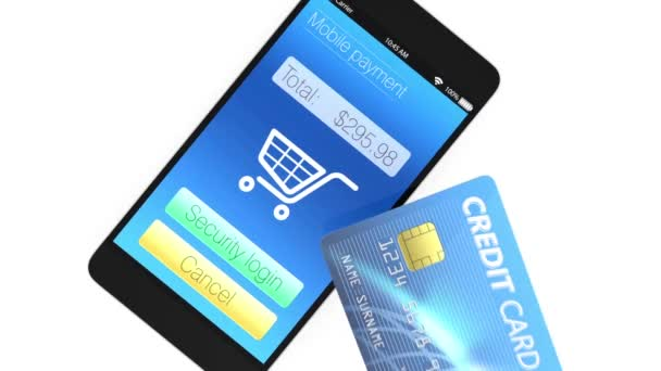 Smart phone and credit cards. Mobile payment concept
