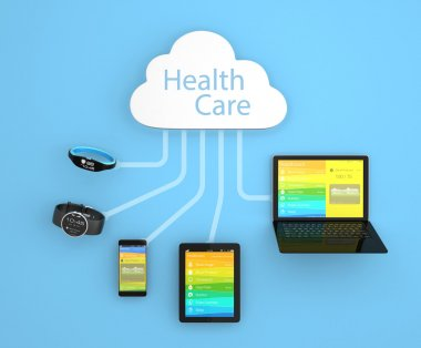 Cloud computing technology concept for healthcare