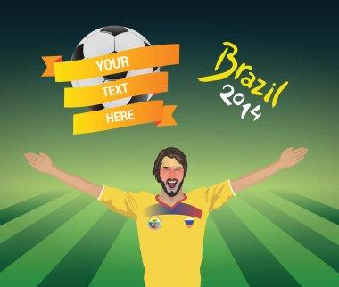 Ecuador football fan