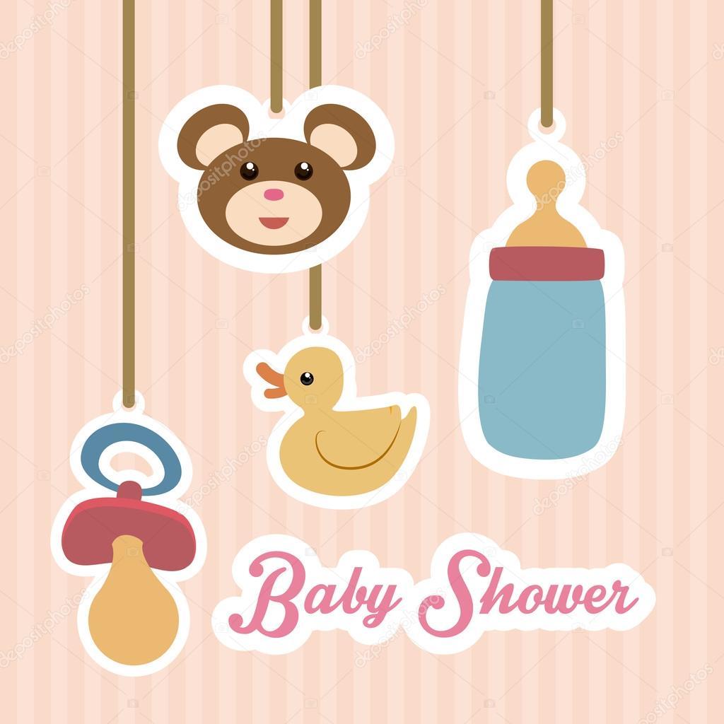 Populares desenho de chá de bebê — Vetores de Stock © djv #49616485 WO84