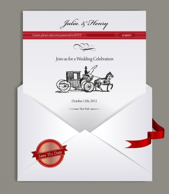 Elevelope and electronic wedding invitation
