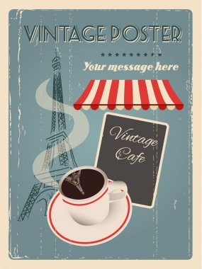 COFFEE AND PARIS POSTER
