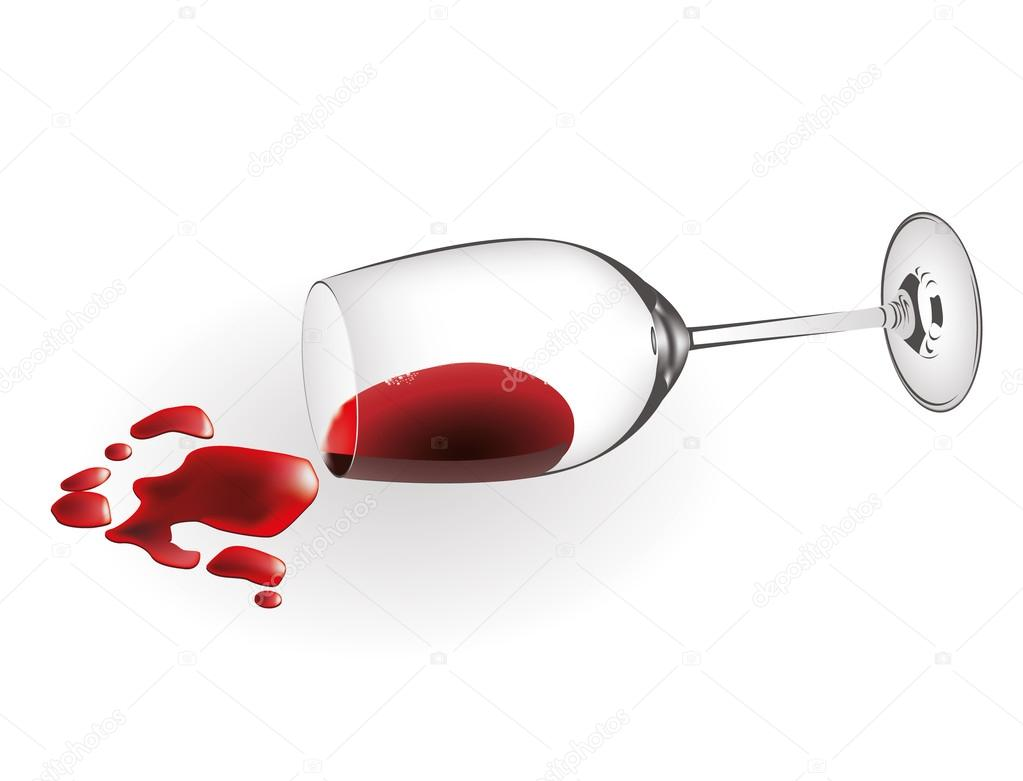 spilled wine stock vector upstudio 46384987