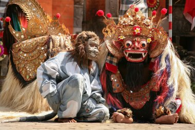 The monkey and Barong