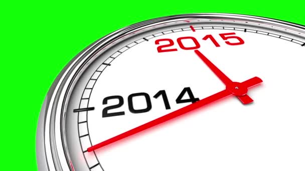 New Year 2015 Clock (Green Screen)