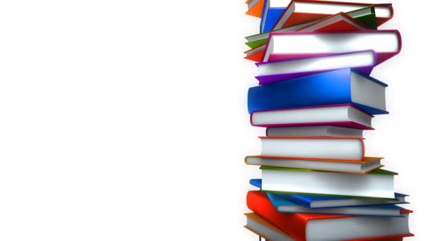 Barevné knihy zásobníku na bílém (Loop)