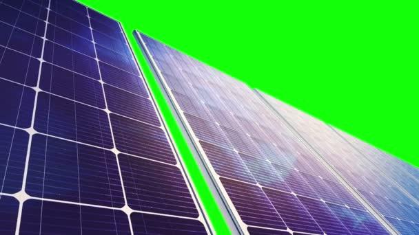 Solar Panels Panorama (Loop on Green Screen)