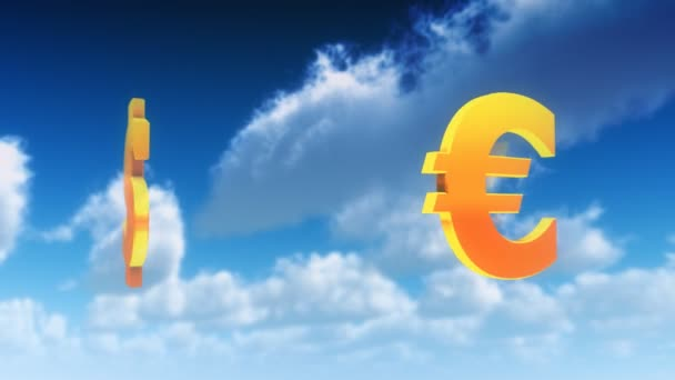 Currency Symbols in Clouds (Loop)