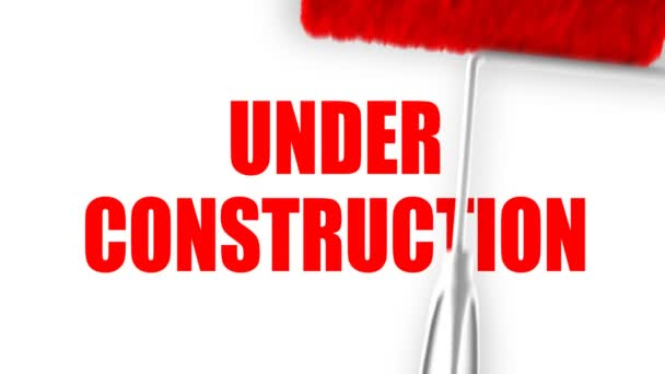 Under Construction Text - Roller Painting (Loop with Matte)