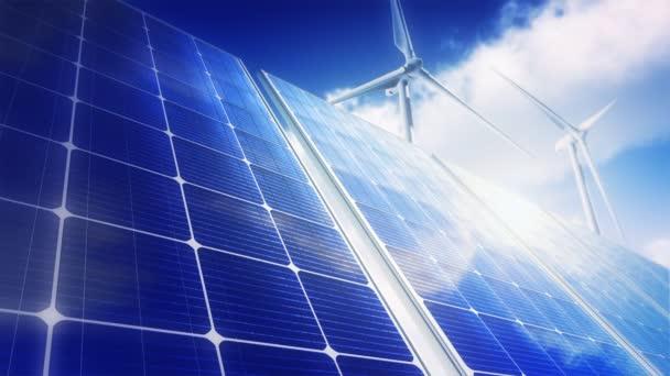 Solární panely Sky větrné turbíny (Loop)