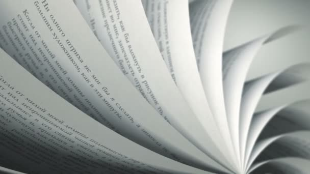 otáčení stránky (smyčka) ruské knihy