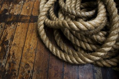Rope on deck.