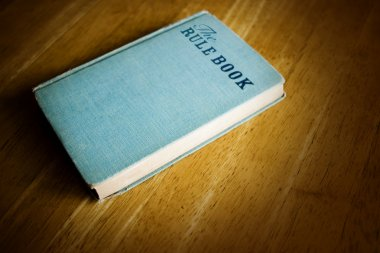 Book with blue  cover