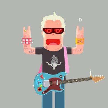 Punk rock musician character