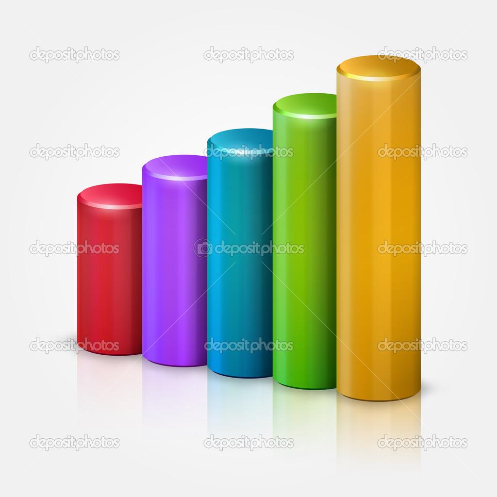 imágenes cilindros en 3d cilindros de colores 3d gráfica