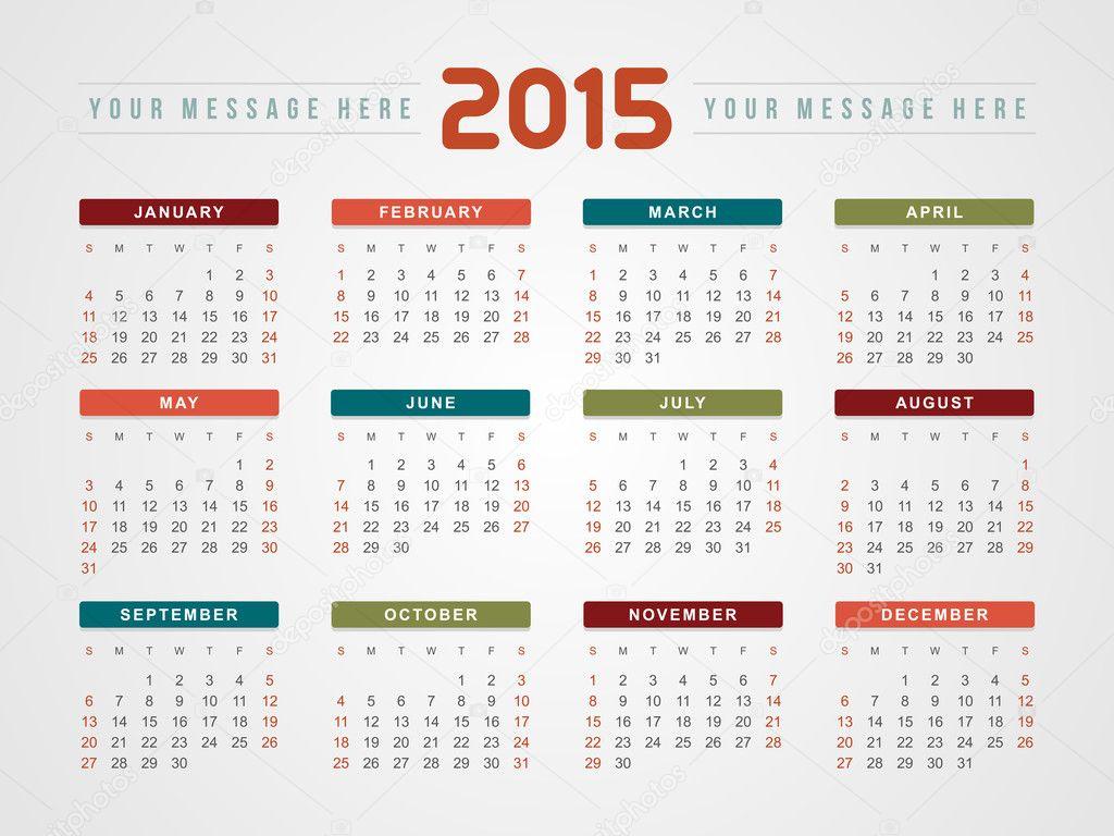Illustration Calendar Design : Calendar vector design template — stock