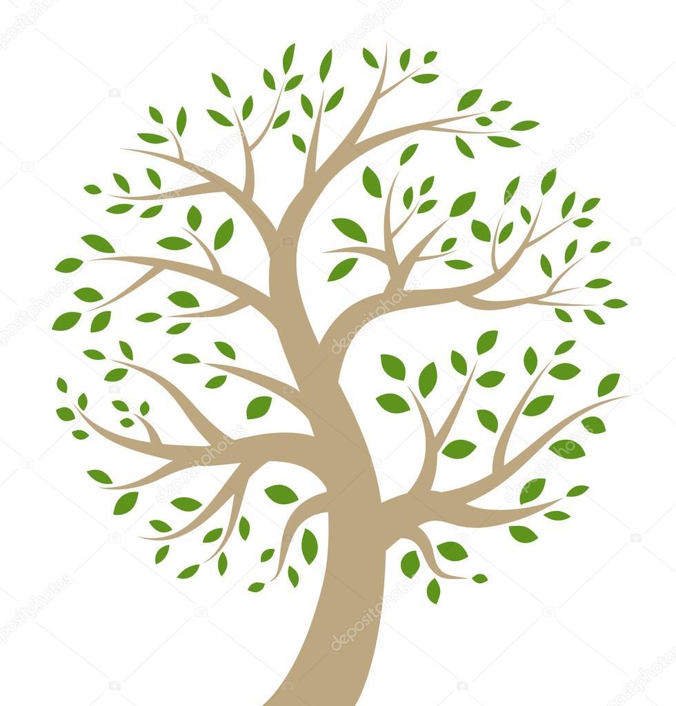 Icona stilizzato albero colorato vettoriali stock for Albero ulivo vettoriale