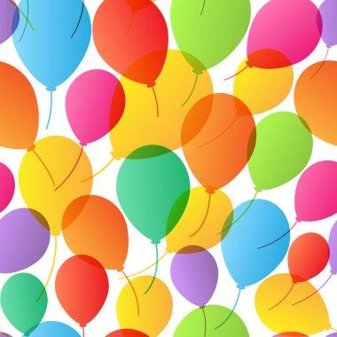 Seamless Pattern. Balloons background.