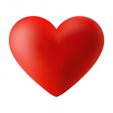 Red 3d heart, vector illustration for your design clip art vector
