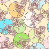 náčrt helmu, vektorové bezešvé pattern
