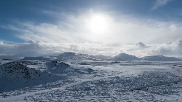 Iceland white snow landscape