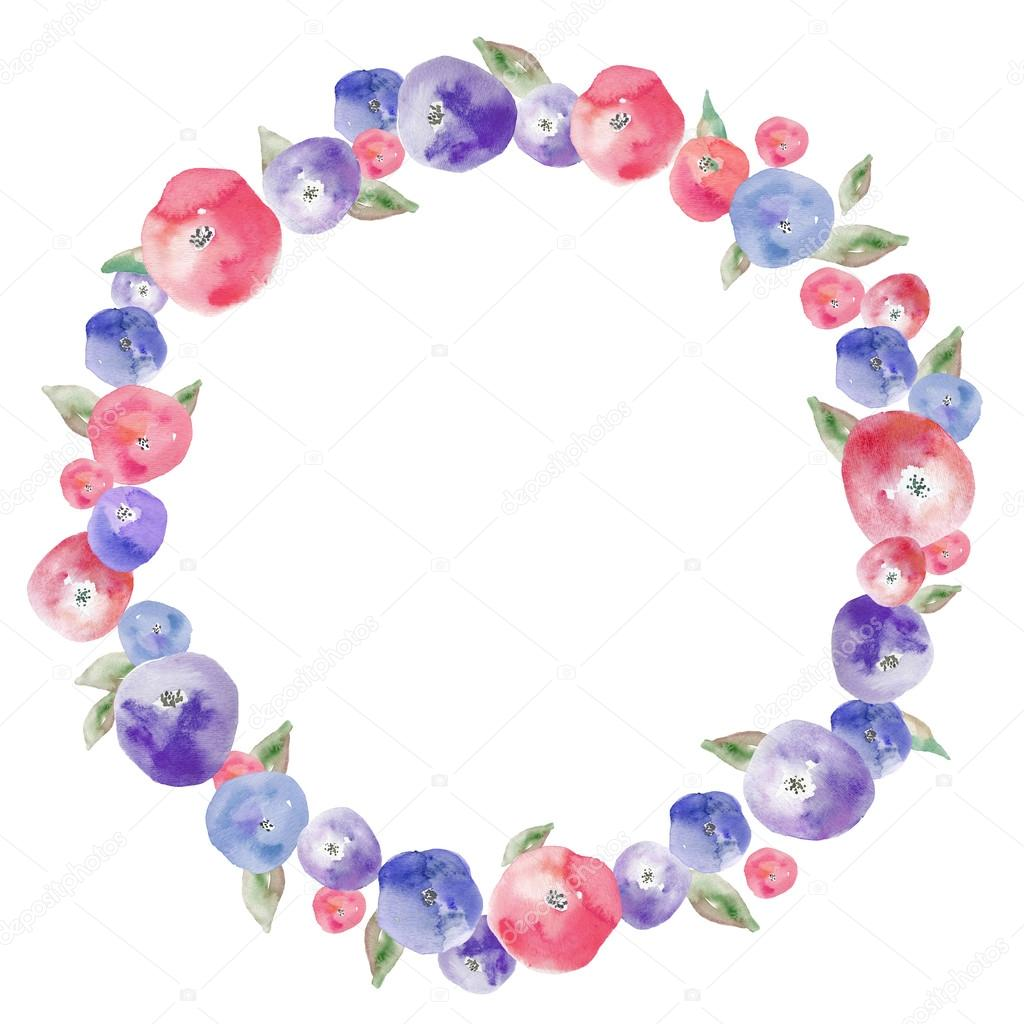 Red and blue flower wreath stock photo angiemakes 48160035 red and blue flower wreath stock photo izmirmasajfo Gallery