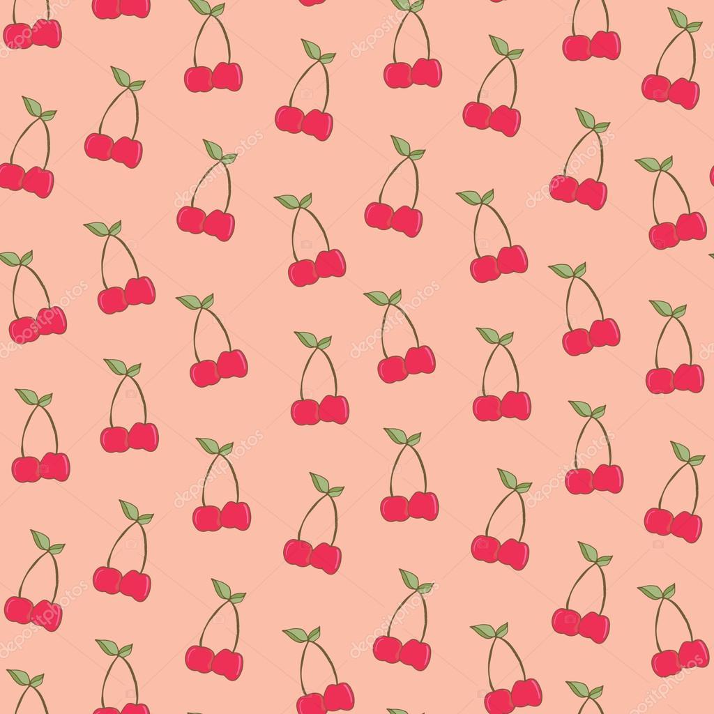 Cute Cherry Background Pattern