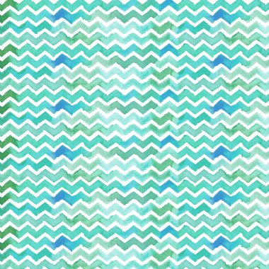 Watercolor Chevron Background. Painted Chevron Background