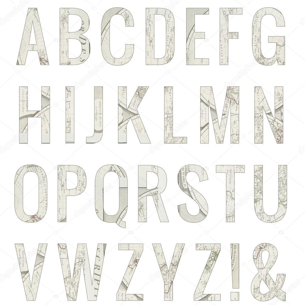 Watercolor Alphabet Letters