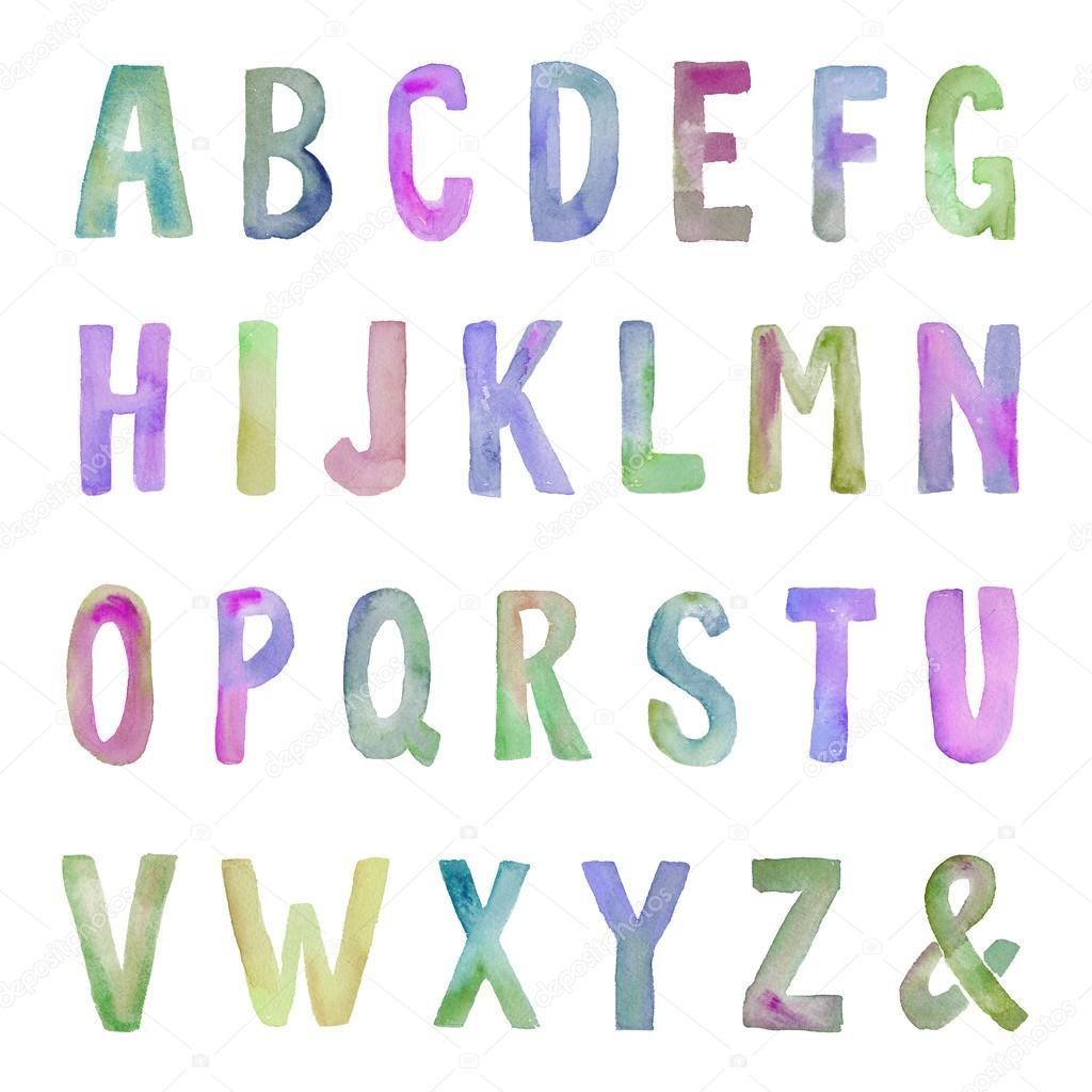 Watercolor alphabet letters stock photo c angiemakes for Alphabet photo letters