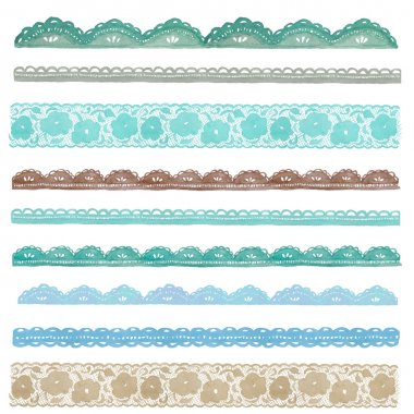 Collection of Hand Painted Watercolor Lace