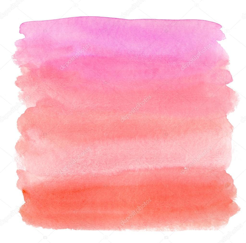 watercolor pink ombre background � stock photo